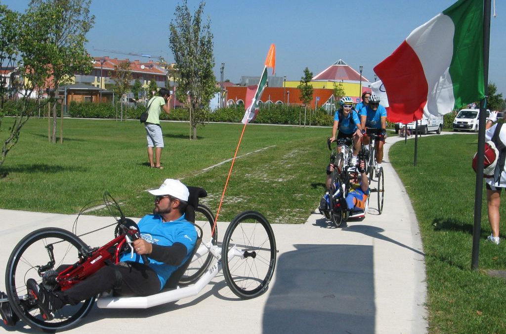 Tappa al Civitas Vitae di handbike disabili