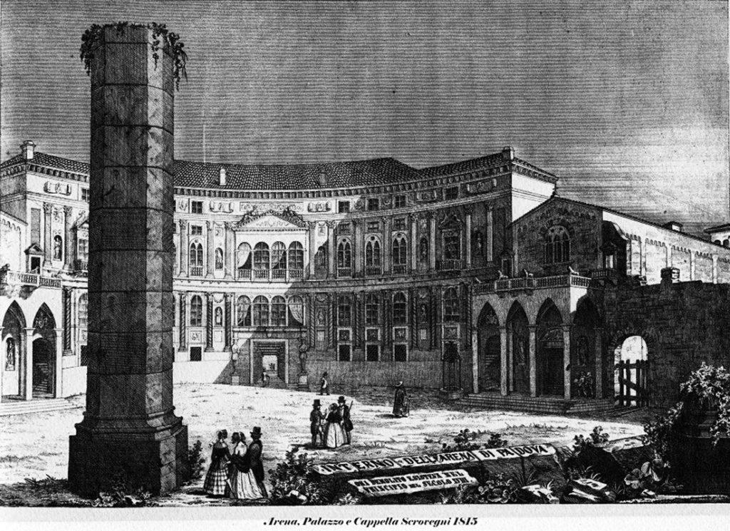 Arena romana, Cappella e Palazzo Scrovegni 1815 ca